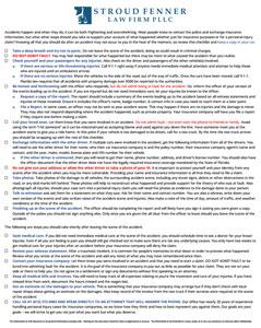 auto accident attorney checklist